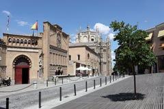 Fyrkant i Toledo, Spanien Arkivfoton