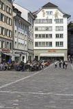 Fyrkant namngav Muehlenplatz Royaltyfria Bilder