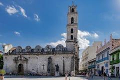 Fyrkant och kyrka av St Francis av Assisi royaltyfri foto