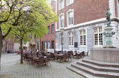 Fyrkant på Aachen, Tyskland Arkivbilder