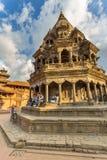 Fyrkant som är durbar i Patan, forntida stad i Kathmandu Valley Royaltyfria Bilder