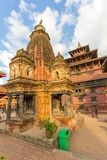 Fyrkant som är durbar i Patan, forntida stad i Kathmandu Valley Arkivbilder