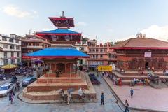 Fyrkant som är durbar i Patan, forntida stad i Kathmandu Valley Royaltyfria Foton