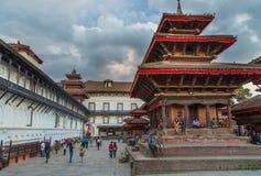 Fyrkant som är durbar i Patan, forntida stad i Kathmandu Valley Royaltyfri Fotografi