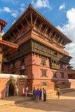 Fyrkant som är durbar i Patan i Kathmandu Valley Fotografering för Bildbyråer