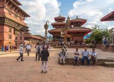 Fyrkant som är durbar i Patan i Kathmandu Valley Arkivbild