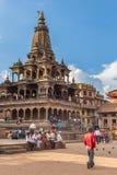 Fyrkant som är durbar i Patan i Kathmandu Valley Royaltyfria Bilder