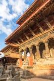 Fyrkant som är durbar i Patan i Kathmandu Valley Royaltyfri Foto