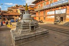 Fyrkant som är durbar i Patan i Kathmandu Valley Royaltyfri Fotografi