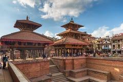 Fyrkant som är durbar i Patan i Kathmandu Valley Royaltyfri Bild