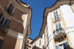 Fyrkant St Ignatius av Loyola i Rome, Italien fotografering för bildbyråer