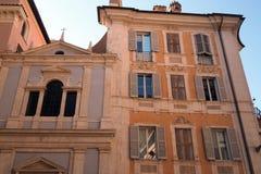 Fyrkant St Ignatius av Loyola i Rome royaltyfria foton