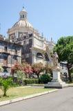 Fyrkanten av den Catania domkyrkan Royaltyfri Foto