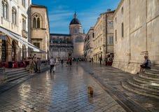 Fyrkanten av Dubrovnik royaltyfria foton