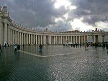 Fyrkanten av St Peter, Vatican City royaltyfria foton