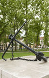 Fyrkanten för ankarmonumentkongressen parkerar Ljubljana Slovenien Arkivfoto