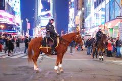 fyrkanten för polisen för stadshästen times den nya york Royaltyfri Bild
