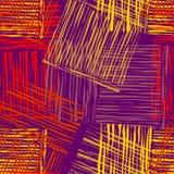 Fyrkanter av borstelinjer Vektor Illustrationer