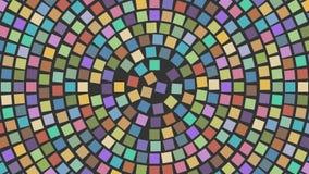 Fyrkanter i en cirkel Arkivbild
