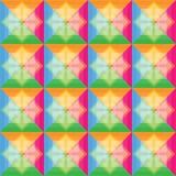 Fyrkanter mönstrar retro färgbakgrund Royaltyfri Bild