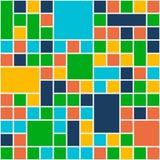 Fyrkantfärgbakgrund Stil för malllägenhetdesign vektor royaltyfria foton