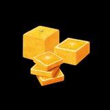 Fyrkantig apelsin royaltyfri illustrationer