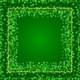 Fyrkantig bakgrund för helgonPatricks dag med växt av släktet Trifolium vektor illustrationer