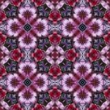 Fyrkantig blommakalejdoskop Arkivfoton