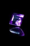 Fyrkantig diamant med reflexion Arkivfoton