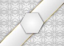 Fyrkantig etikett- och grå färgvektorbakgrund Royaltyfri Fotografi