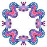 Fyrkantig färgrik klotterram med utrymme för text Fotografering för Bildbyråer