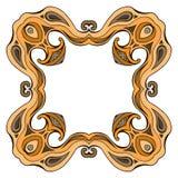 Fyrkantig färgrik klotterram med utrymme för text Royaltyfria Bilder