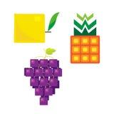 Fyrkantig fruktserie 2 Arkivbild