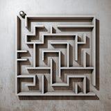 Fyrkantig labyrint Arkivbild