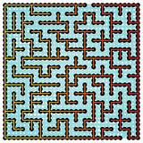 Fyrkantig labyrint för apelsin Royaltyfri Fotografi