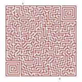 Fyrkantig labyrint på en vit bakgrund royaltyfri illustrationer