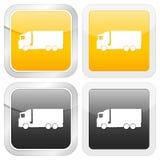 fyrkantig lastbil för symbol Royaltyfria Bilder
