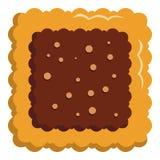 Fyrkantig ljusbrun symbol, lägenhetstil vektor illustrationer