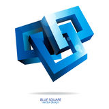 Fyrkantig logodesign Arkivbilder