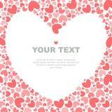 Fyrkantig mall för rosa hjärtor royaltyfri illustrationer