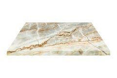 fyrkantig marmorplatta som isoleras på vit Arkivfoton