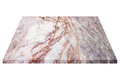 fyrkantig marmorplatta som isoleras på vit Arkivbilder