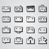 Fyrkantig minsta objektdesign stock illustrationer