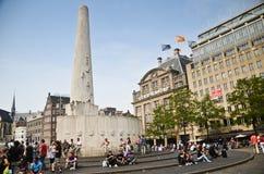 Fyrkantig monument för fördämning Fotografering för Bildbyråer