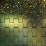 Fyrkantig mosaik 3d Modern färgrik textur som komponeras av tegelplattor med den magiska gnistrandet till den också vektor för co Royaltyfria Bilder