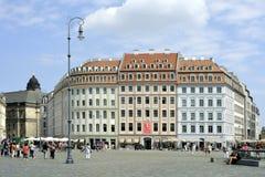 Fyrkantig ny marknad i Dresden - tysk Royaltyfri Fotografi