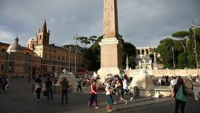 Fyrkantig obelisk Rome stock video