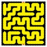 Fyrkantig ogenomtränglig labyrint Royaltyfri Bild