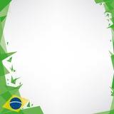 Fyrkantig origami för bakgrund av Brasilien Royaltyfri Foto