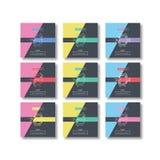 Fyrkantig packe för uppsättning för Sale bokstäverdesign Sommarvårvinter Sale som är säsongsbetonad Royaltyfri Foto
